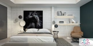bedroom feature wall & accent wall ideas 2017