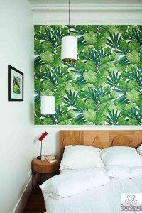 bedroom feature wall wallpaper