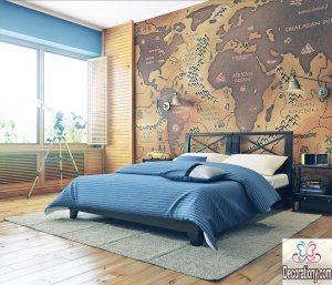 bedroom feature wall art