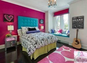 bold feature wall colors for bedroom