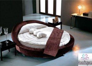 modern round bed furniture