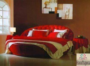 best round beds designs 2017