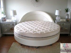 White round beds designs