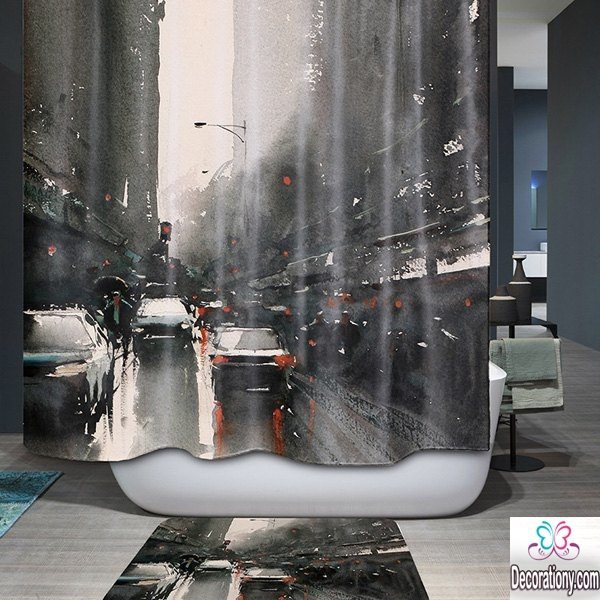 bathroom shower curtain design ideas 2017