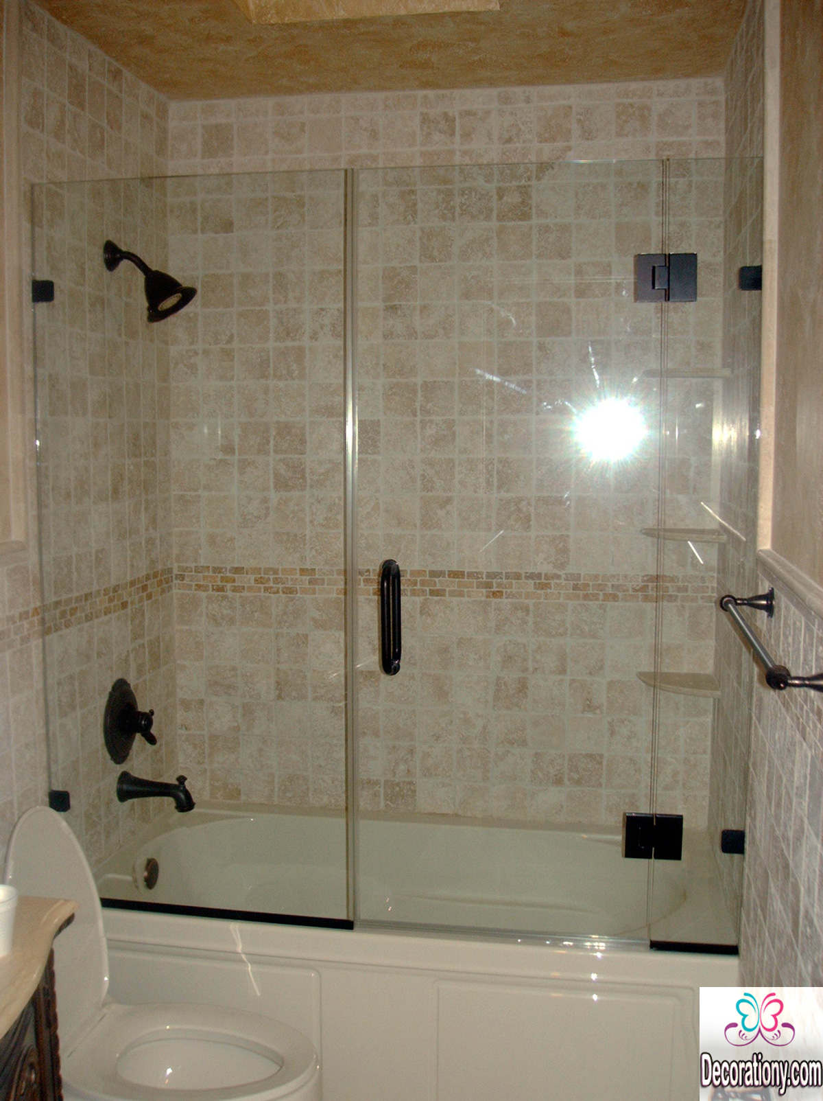 Simple small bathroom shower ideas