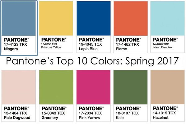 Pantone spring color trends this year