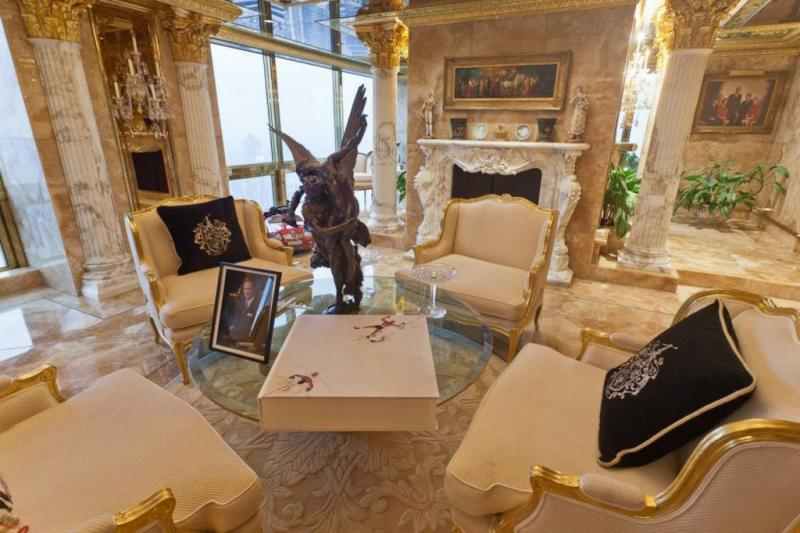 Donald Trump's house in NYC - royal furniture