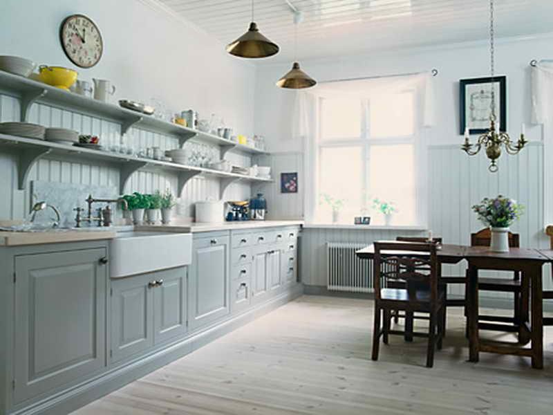 DIY open shelving kitchen vanity