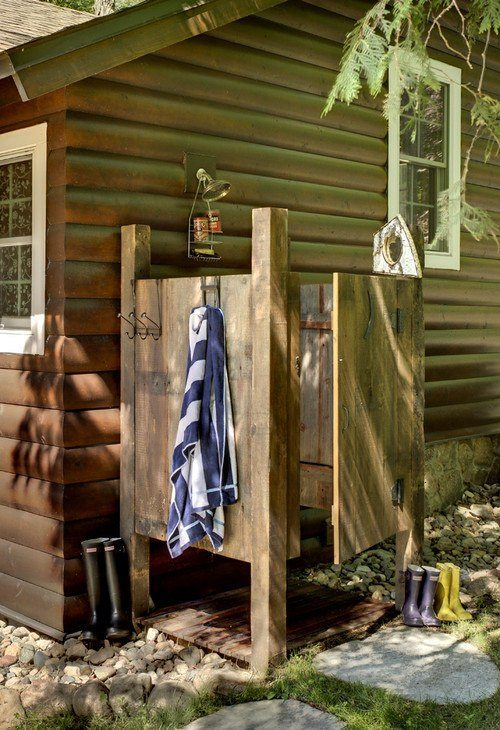 Distinctive outdoor showers