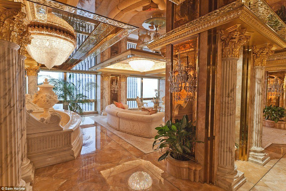 Donald Trump's house of luxury and lush life