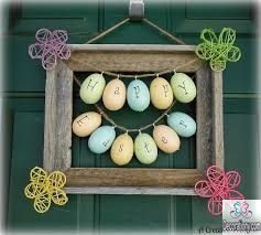 Easter decorations - wooden egg wrath
