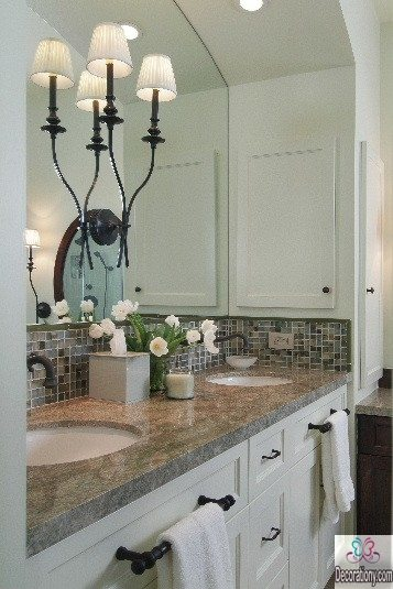 Large mirror solution for small bathroom