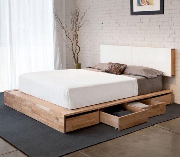 Get creative with pallet bed storage designs