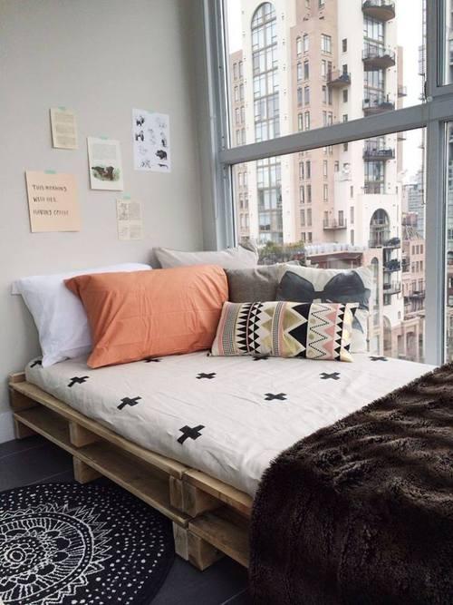 Pallet bed total vanity full DIY instructions