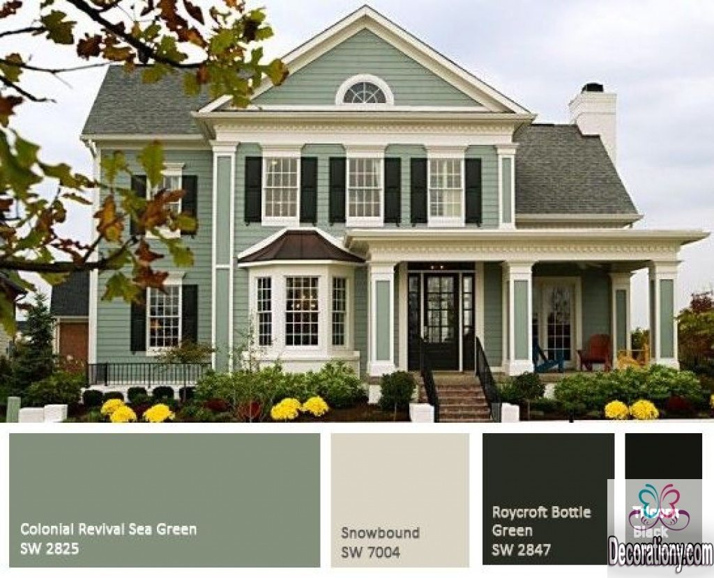 New trendy green house color scheme for 2017