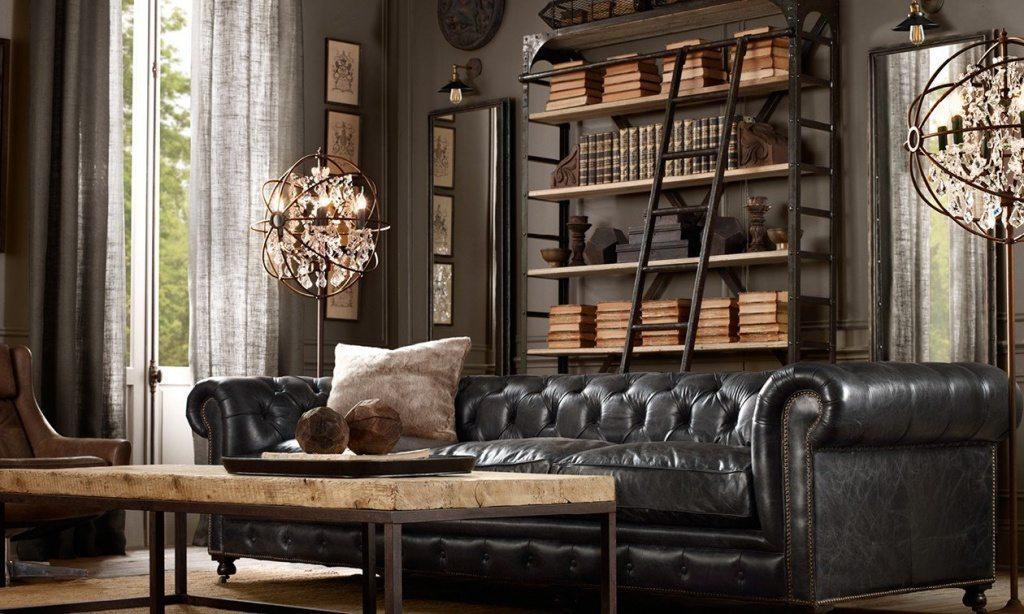 Steampunk decor living room