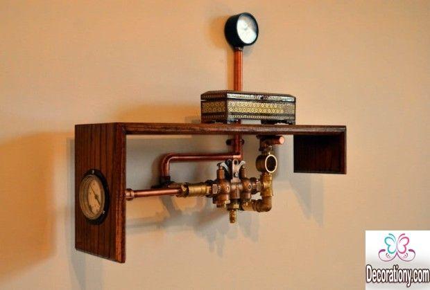 steampunk decor shelf