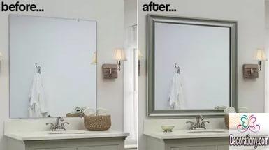 DIY a bathroom mirror frame