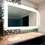 Lighted bathroom mirror frames