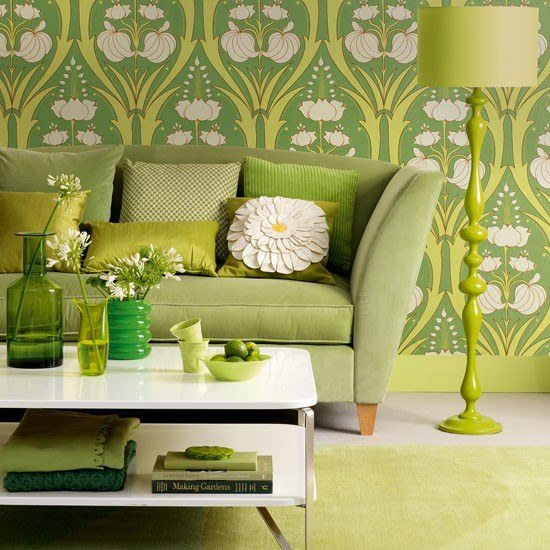 Greenery house design - spring 2017 color trends
