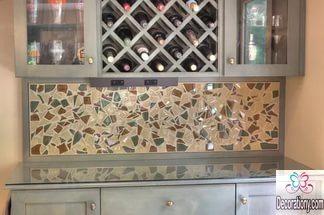 glass backsplash kitchen ideas