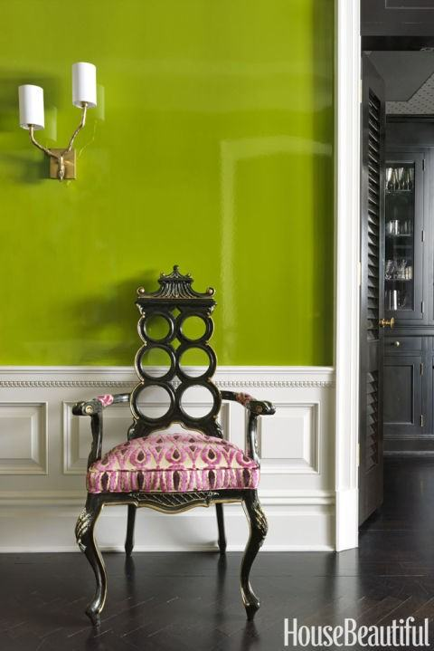 Trendy greenery for interior house color schemes