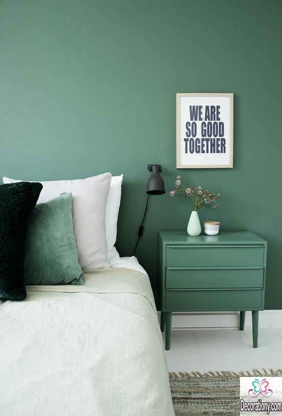 Greenish blue calming interior house color scheme