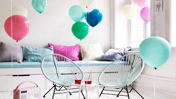 Cute balloon decorations idea
