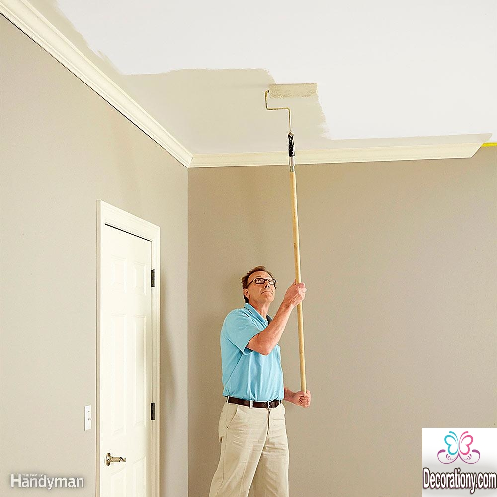 How to paint a room ceiling first