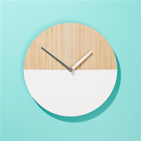 Wooden clock vanity