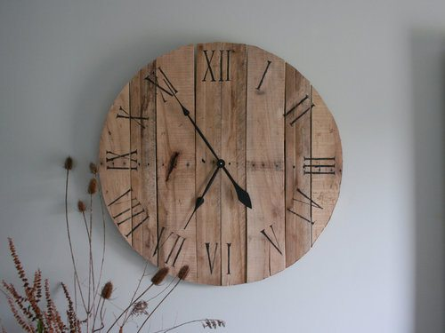 How to make a pallet wall clock