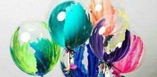Nail polished balloons decorations