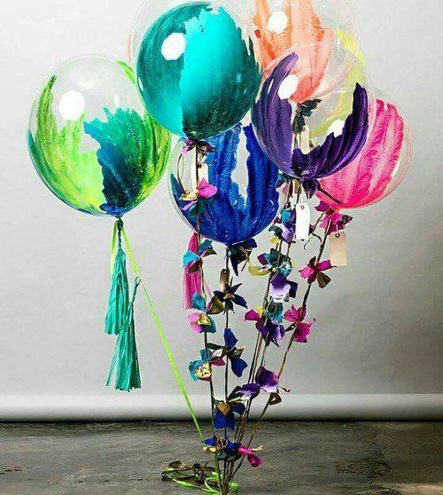 Nail polished balloons decorations - DIY balloon decorations