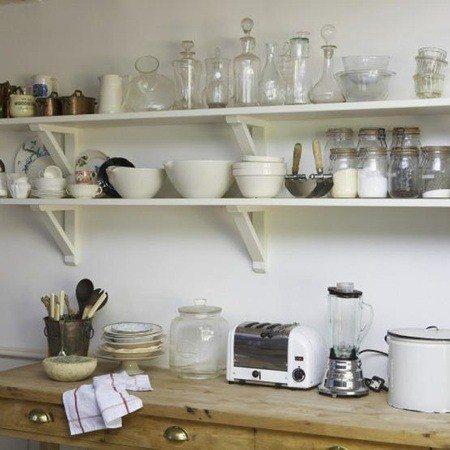 Open shelving kitchen style