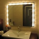 Led bathroom mirror with lights