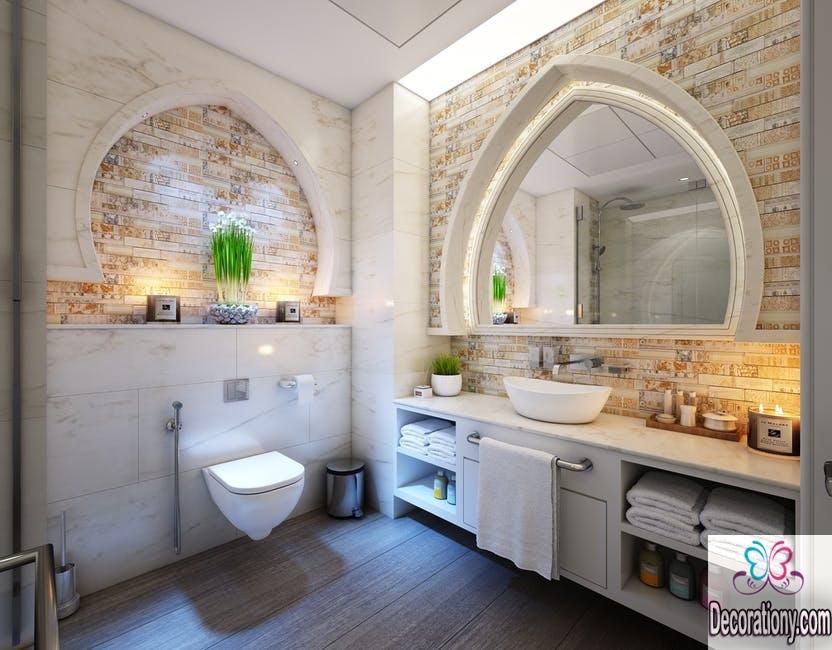 Steampunk decor white bathroom