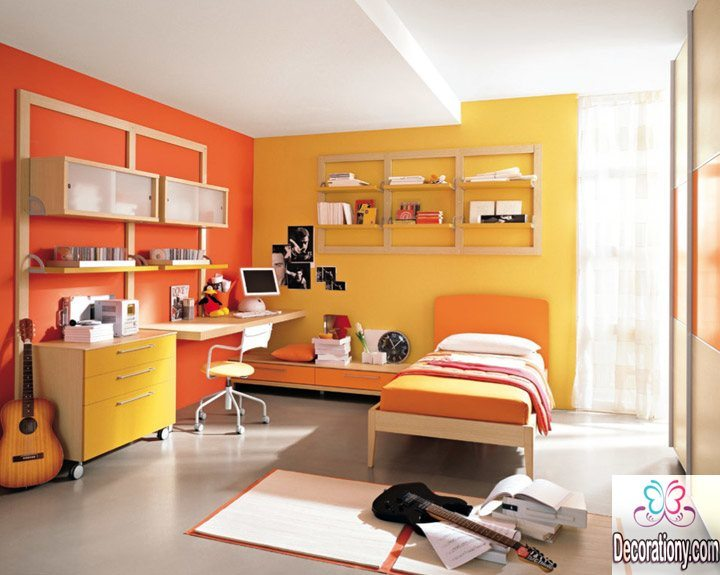 Yellowish color interior house color scheme