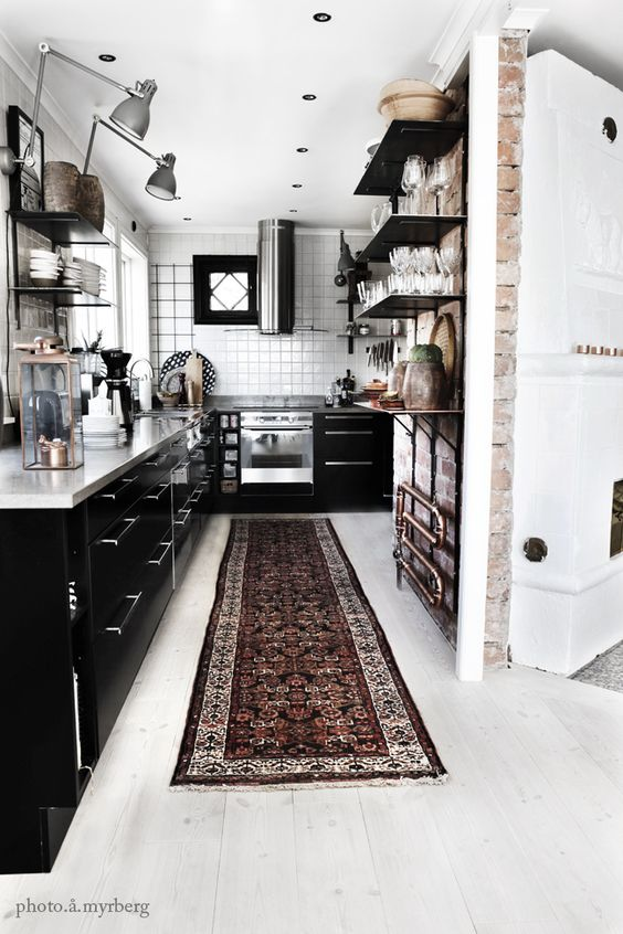 Bold trendy kitchen area rugs 2017