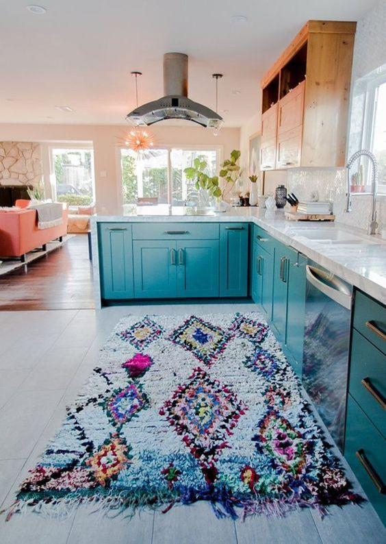 Bohemian kitchen area rugs