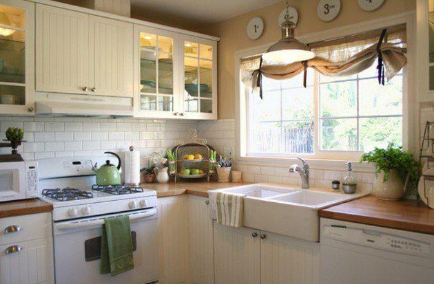 Kitchen windows chic idea