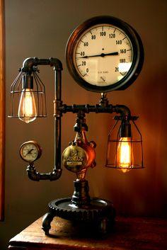vanity Steampunk lamp