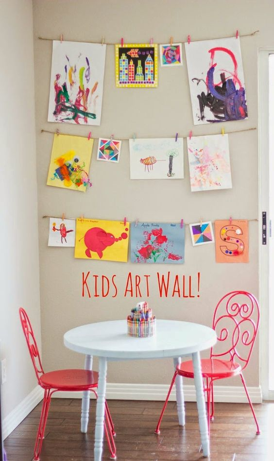 art drawing wall kids game room