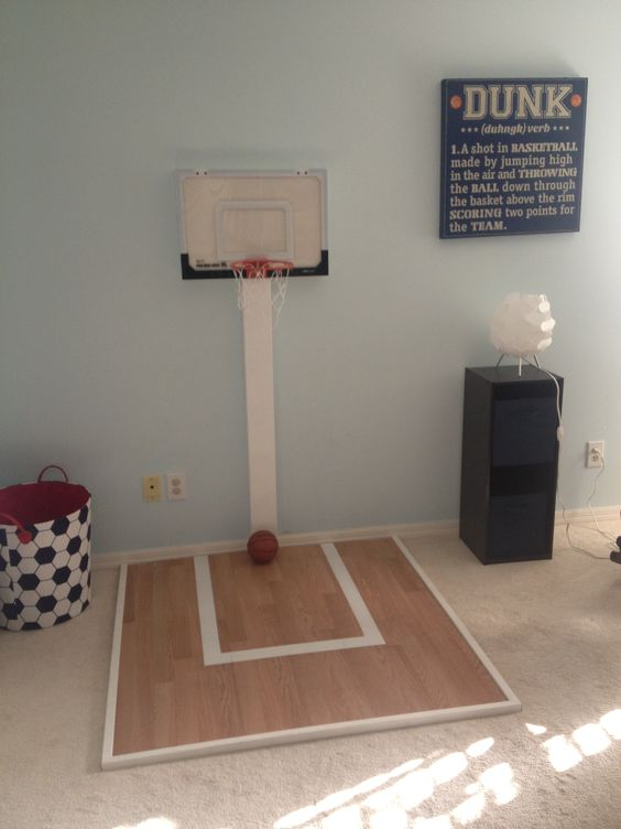mini basket ball court