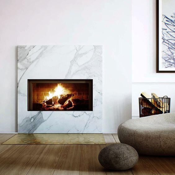 Luxury modern fireplace