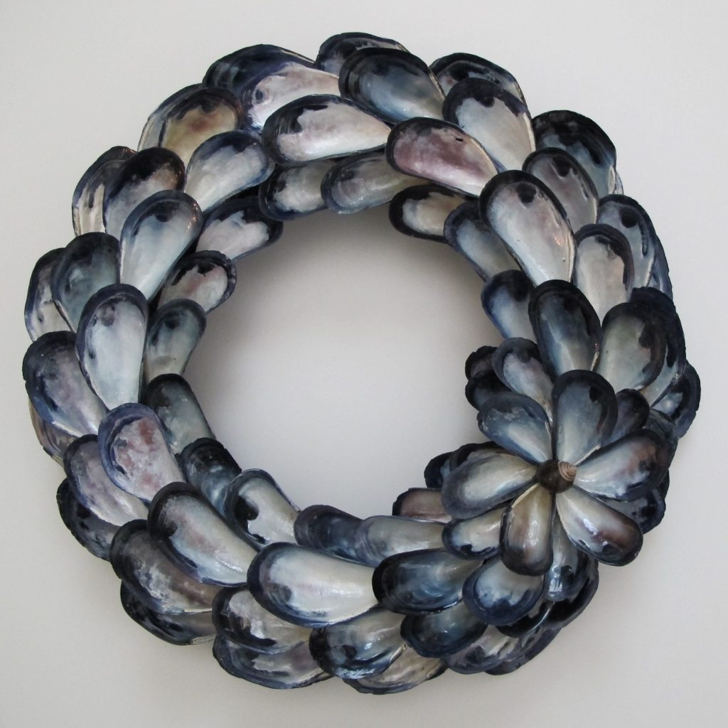 nautical wall decor mussel decorations