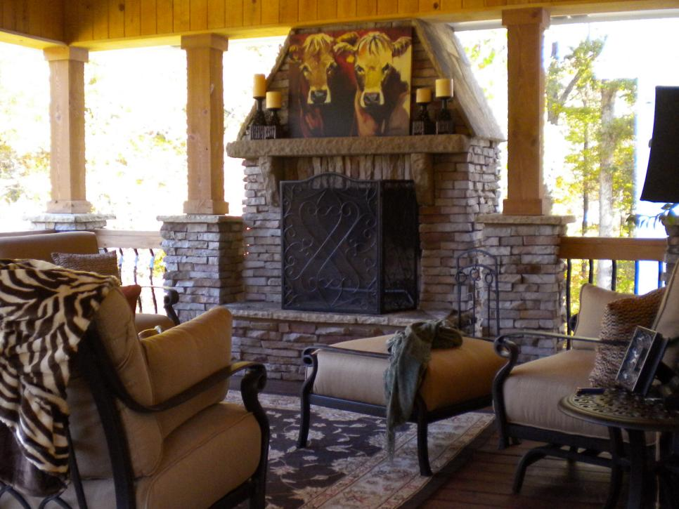 outdoor rustic interior design
