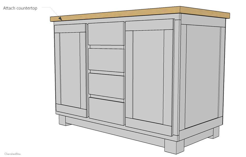 Diy kitchen island plans follow