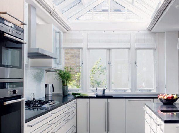 Wide kitchen windows