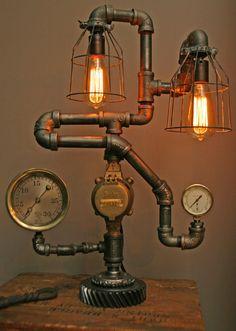 vintage steampunk lamp diy
