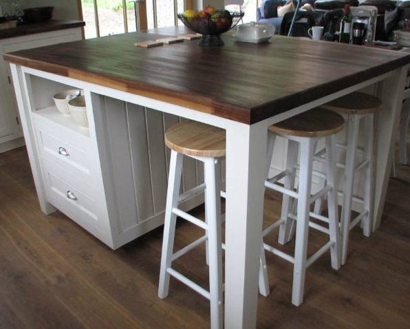 Diy kitchen island with seating